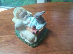 Small Ceramic Nativity Jesus and Animals Christmas Baby Figure
