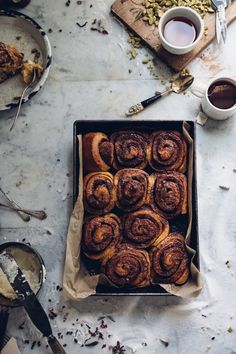 This fresh take on traditional cinnamon rolls is absolutely heavenly with a sweet potato dough base and the unexpected nut addition of pistachios.
