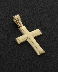 Σταυρός Χρυσός K9 Baby Boy Christening, Mens Crosses, Cross Jewelry, Romans, Medieval, Jewelery, Design, Religious Wedding, English Grammar