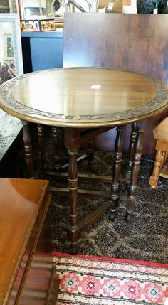 Bilton gate leg table, $225 lovely, solid piece. #COLLINGWOOD #homedecor #consignment #furniture #rustic #cottage