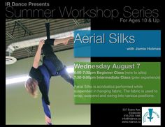 Aerial Silks workshop at Innovative Rhythm Dance Studios. Can't wait to try this! Aerial Silks, Dance Studio, Innovation, Things I Want, Studios, Workshop, Summer, Atelier, Summer Time