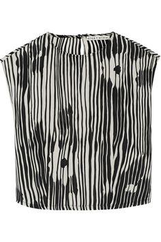 Alice + OliviaDanae printed silk-chiffon top
