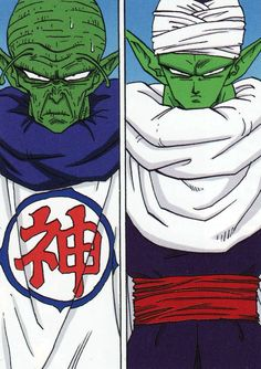 KAMI SAMA & PICCOLO [ALTER EGO]Scan in high resolutionfrom Dragon Ball full colour mangaPublished by Jump Comics / Studio BirdArtwork by Akira Toriyama