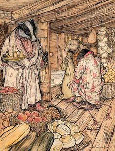 Arthur Rackham, Badger's Winter Stories, c. 1920 #illustration