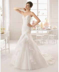 217578447e33 2015 New Collection Mermaid Strapless Sweetheart Pleated Beaded Ruffled Wedding  Dress 2014