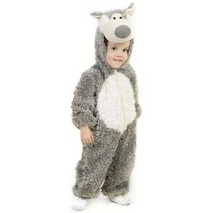 Little Wolf Costume - Baby/Toddler, Toddler Unisex, Size: 12-18MONTH, Multicolor