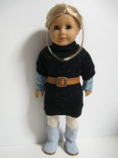 American Girl Doll Sweater Cozy Navy by 123MULBERRYSTREET on Etsy, $32.00