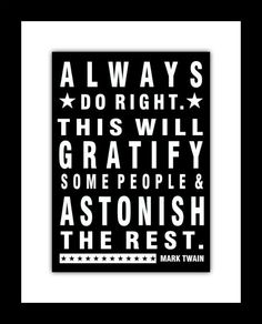 Subway style Poster  Mark Twain Quote Print  8 X by DoodleGraphics