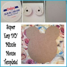 Simple DIY Minnie Mouse Template