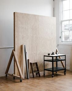 The Portland Studio ( Art Studio Design, My Art Studio, Art Atelier, Studio Table, Workshop Studio, Interior Architecture, Interior Design, Studio Organization, Houses