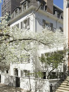 Paul & Bunny Mellon's 40' wide Upper East Side townhouse built in 1965. Featured in The World of Interiors magazine.