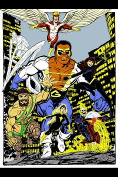 The Champions, California-based team, 1970s, Marvel Comics, John Byrne, Black Goliath