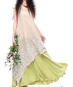 Chic Beach Cotton Floral Full Maxi Summer Womens Length Short Sleeve Long Dress