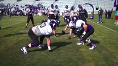 Northwestern Wildcats 3-on-3 zone blocking drill: Offensive line