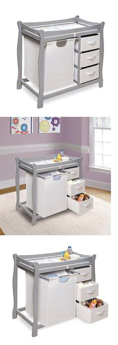 Changing Tables 20424: Badger Basket Sleigh Style Changing Table With Hamper Baskets, Gray -> BUY IT NOW ONLY: $164.89 on eBay!