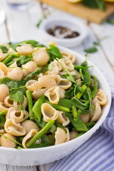 Jump into Spring with this Spring Pasta Salad with Watercress, Asparagus, Peas and a Fresh Lemon Dressing! Gluten free & vegan