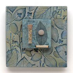 Mixed Media pared arte, ensamblaje de cerámica, decoración del hogar, inspirado en la naturaleza