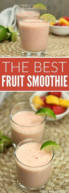 Easy Frozen Fruit Smoothie Recipe for a delicious snack or quick meal. It is such an Easy Fruit Smoothie Recipe.It's also a healthy smoothie recipe. Even the kids will love this Easy smoothie recipe. Try it with strawberries, blueberries and more! Frozen Fruit Smoothie, Healthy Fruit Smoothies, Smoothie Recipes For Kids, Smoothies For Kids, Good Smoothies, Healthy Fruits, Healthy Snacks For Kids, Fruit Recipes, Healthy Meals