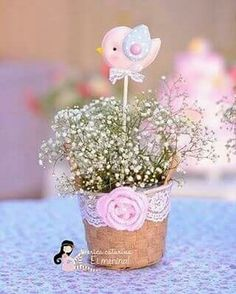 After theysec make their jars add baby's breath and bird or flower skewer