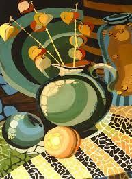 Картинки по запросу декоративная живопись натюрморт