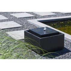 Betonwürfel Garten gartenbrunnen cortenstahl quadrina 80 garten water