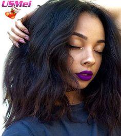 """Moyen Longs Cheveux Perruques pour les Femmes Noires Afro-américaine Tressé Perruques 12 """"Bouclés Naturel Noir Blond Brun Pleine Synthétique perruques"""