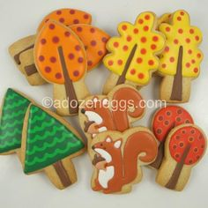 My son wants squirrel cookies--at first I thought, WTF??  But then I found these--cute!