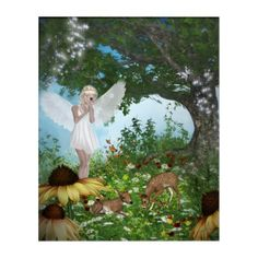 Angel of Animals - Beautiful Ariel Acrylic Print - tap, personalize, buy right now! Fantasy Gifts, Acrylic Wall Art, Faeries, Elves, Animals Beautiful, Mystic, Fairy, Creatures, Spirit