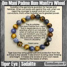 Yoga Bracelets Manifesting Meditation Tibetan Buddhist Beaded Mala Men & Women. Tiger Eye Sodalite Om Mani Padme Hum.