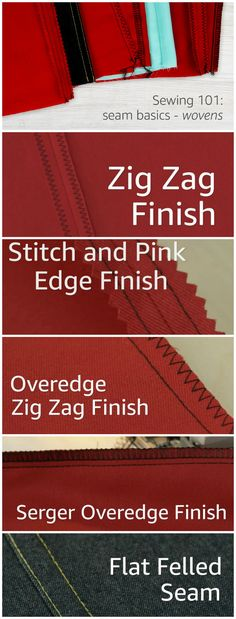 Step by step tutorials and video for lots of different seams and seam edge finishes on woven fabrics. Good clear photos and nice instructions for how to finish raw edges when sewing woven fabrics that fray.