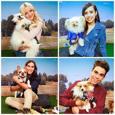 Dove Cameron, Sofia Carson Cameron Boyce i Booboo Stewart con sus cachorros The Descendants, Descendants Pictures, Disney Descendants Movie, Sofia Carson, Pretty Little Liars, Kids Choice Awards, Mal And Evie, Booboo Stewart, High School Musical