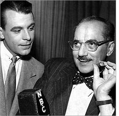 """You Bet Your Life.  This game show was mainly for laughs.  Groucho was so good the censors couldn't keep up with him.  He got a lot of subtle """"off color"""" comments on the air."""
