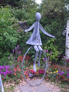 Gentil Garden Sculpture Metal Yard Art, Metal Art, Garden Deco, Garden Whimsy,  Garden