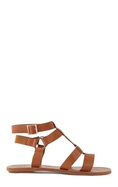 Deb Shops T-Strap Sandal with Multi-Strap Upper