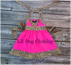 Minnie Mouse Pink Dress Animal Kingdom Girl by LilBugsClothing