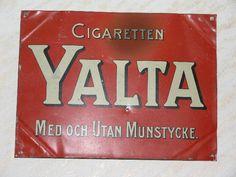 Cigaretten YALTA Med och Utan Munstycke No. 12 Tidlig 1900-tal