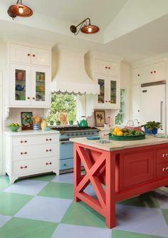 Love the idea having the stove under a window!
