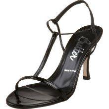 Butter Women's Lulu T-Strap Sandal,Black Patent