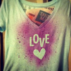 DIY t-shirt upcycle using Tulip Fabric Spray Paints. Worked perfectly and turned out absolutely beautiful!