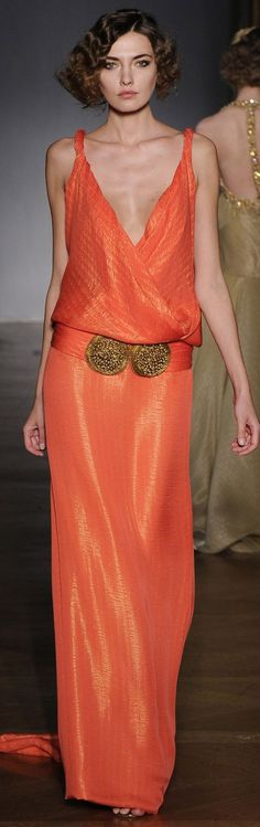 Sandra Bauknecht: Last week, it was Haute Couture S/S 2011 Fashion Week in Paris. This is always a feast for the eyes and one designer definitely caught my eye: Dilek Hanif. Orange Fashion, Love Fashion, High Fashion, Fashion Design, Beautiful Gowns, Beautiful Outfits, Couture Fashion, Runway Fashion, Mode Outfits
