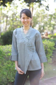 M110Lovely lines Blouse by giftbywish on Etsy, $33.00