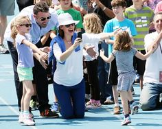 Ben Affleck and Jennifer Garner cheered on daughters Violet and Seraphina during a YMCA track meet at Palisades High School in Pacific Palisades, C.A.