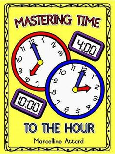 MASTERING TIME TO THE HOUR- O'CLOCK PHOTOCOPY MASTERS - 20 FUN PRINTABLES