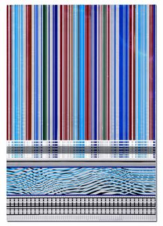 From Bruno David Gallery, Beverly Fishman, Enamel on polished stainless steel