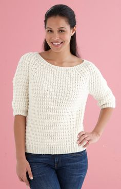 Shaped Shoulder Pullover in Lion Brand Superwash Merino Cashmere - L10734. Discover more Patterns by Lion Brand at LoveKnitting. The world's largest range of knitting supplies - we stock patterns, yarn, needles and books from all of your favourite brands.