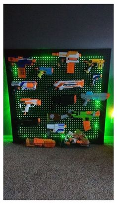 Nerf Gun Storage, Tool Storage, Kids Storage, Chambre Nolan, Arma Nerf, Nerf Party, Gun Rooms, My New Room, Kids Bedroom