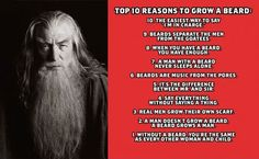 Top 10 reasons to grow a beard.