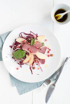 salade eendenborst met granaatappel