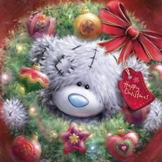 Happy Christmas tatty teddy by constance Tatty Teddy, Teddy Images, Teddy Bear Pictures, Christmas Drawing, Christmas Art, Christmas Decorations, Urso Bear, Teddy Beer, Decoupage