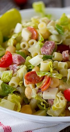 Italian Chopped Salad - Flavorful and hearty, this Italian Chopped Salad has all of the great flavors of Italy in one huge salad!